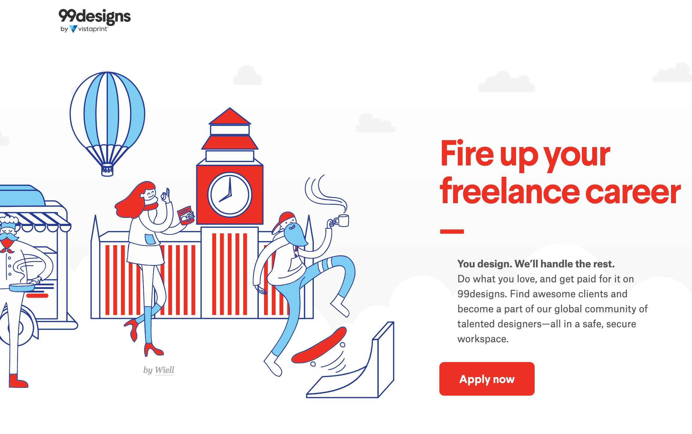99design - best freelance websites for designers