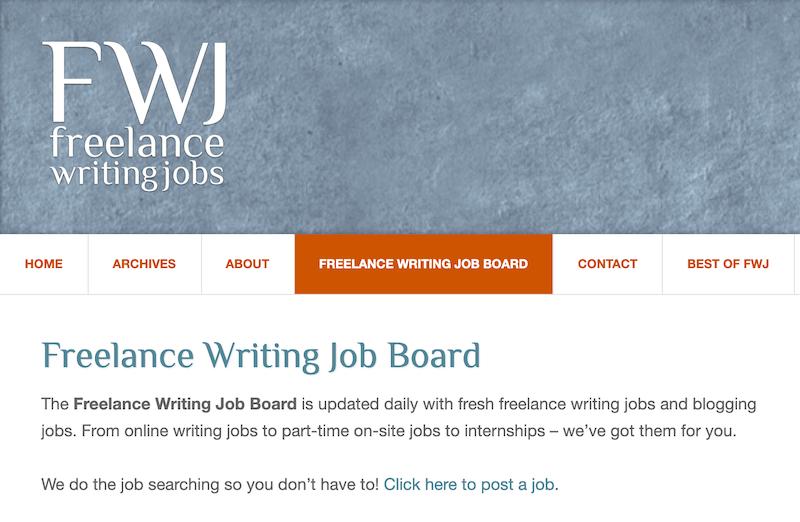 FWJ - best freelance writing job websites