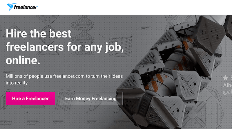 Freelancer - top sites to earn money freelancing