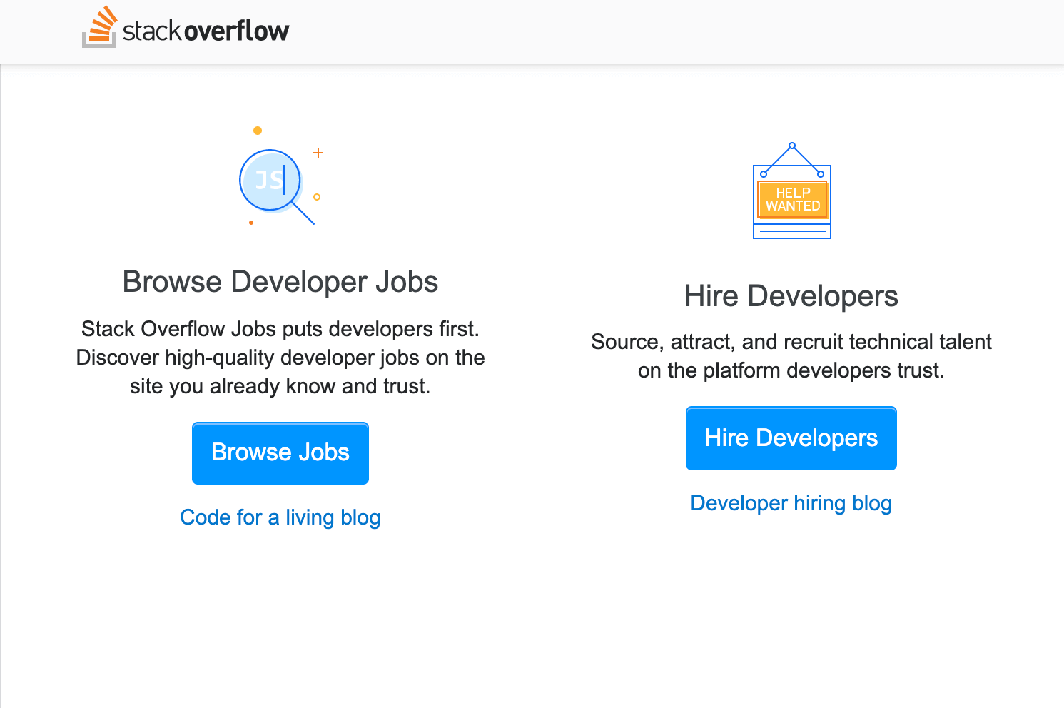 Stack overflow - freelancing jobs site for software developers
