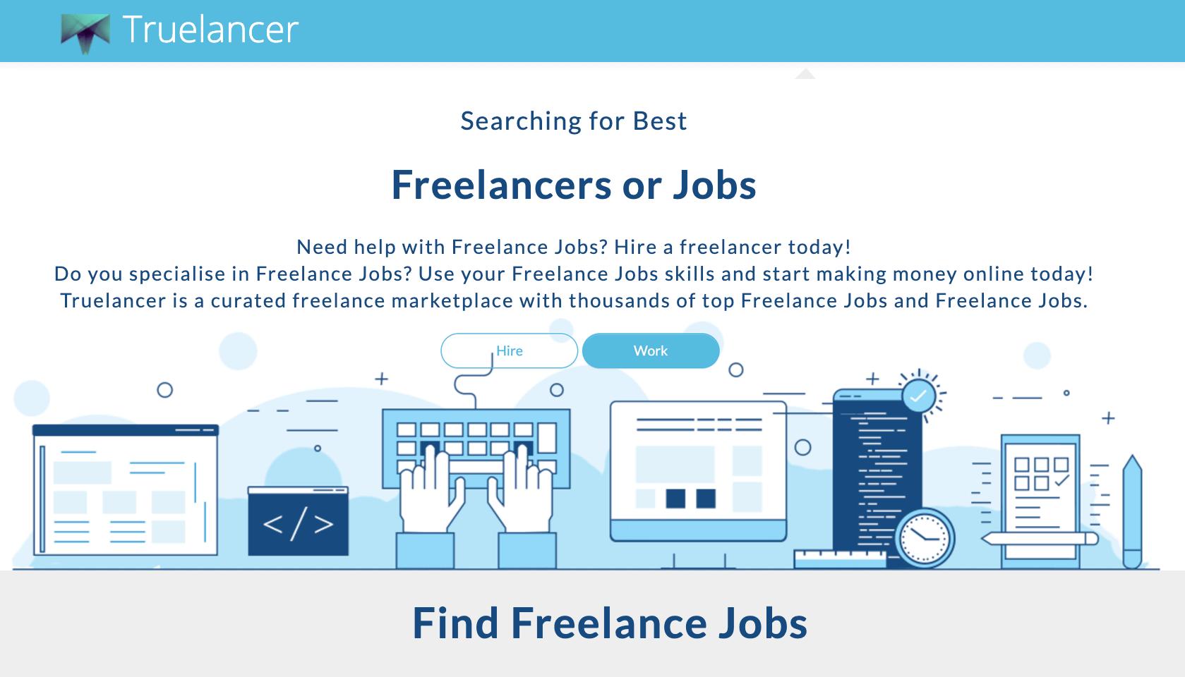 Truelancer - Find Freelance Jobs - best sites