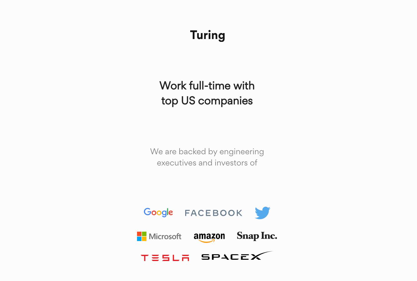 Turing - best developers freelance website