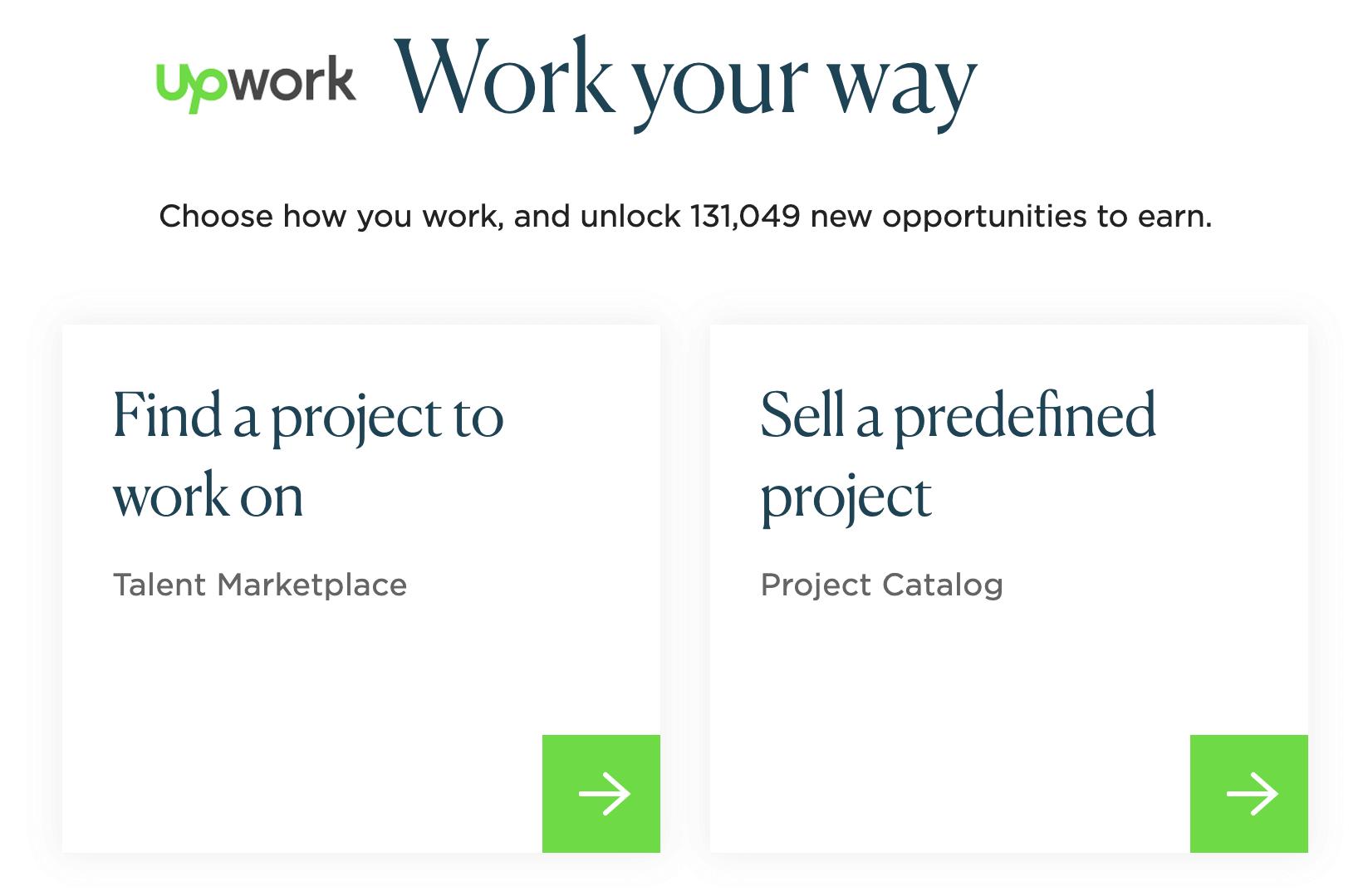 Upwork freelance jobs online