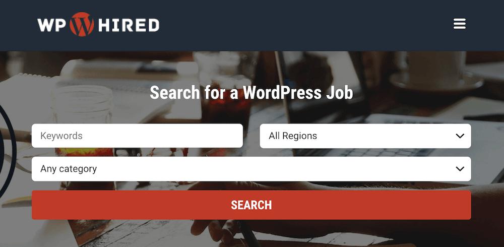 WP hired - freelance work website for developers