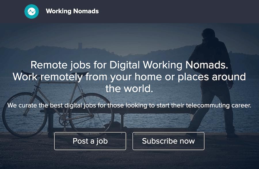 Working Nomad - top site for freelancer works online