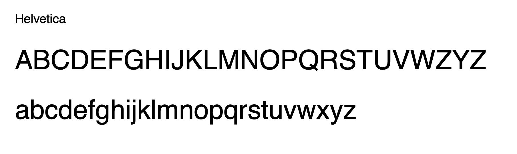 Helvetica - elegant email signature font