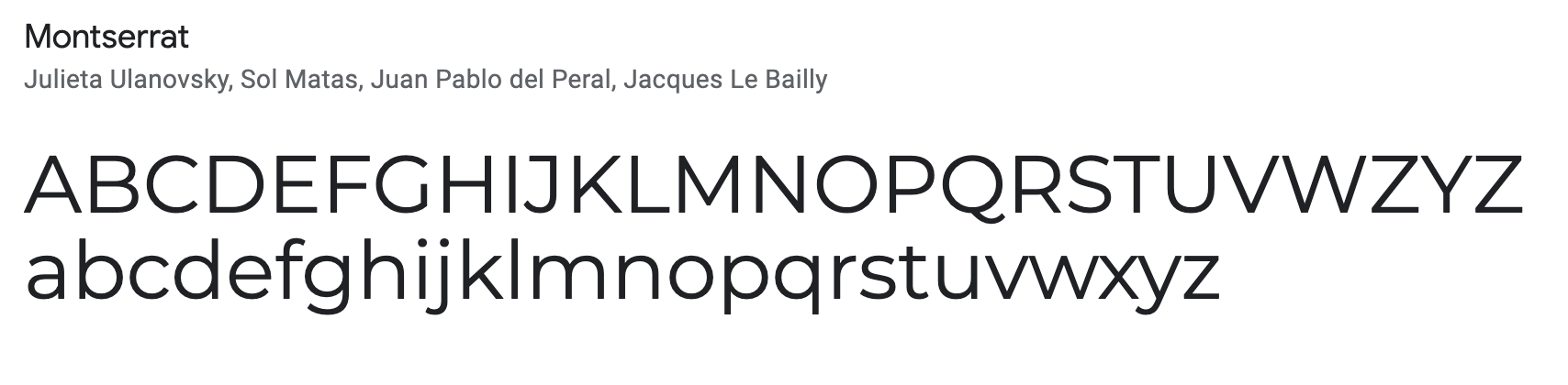 Montserrat - beautiful email signature font
