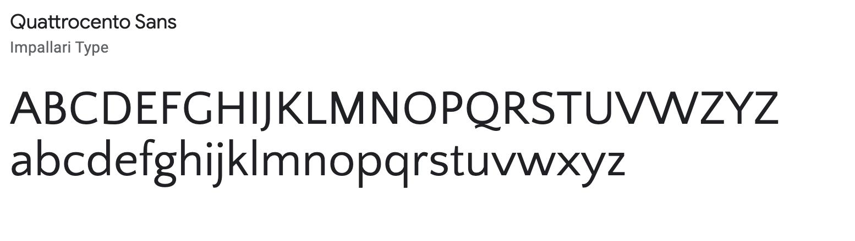 Quattrocento - professional email signature font
