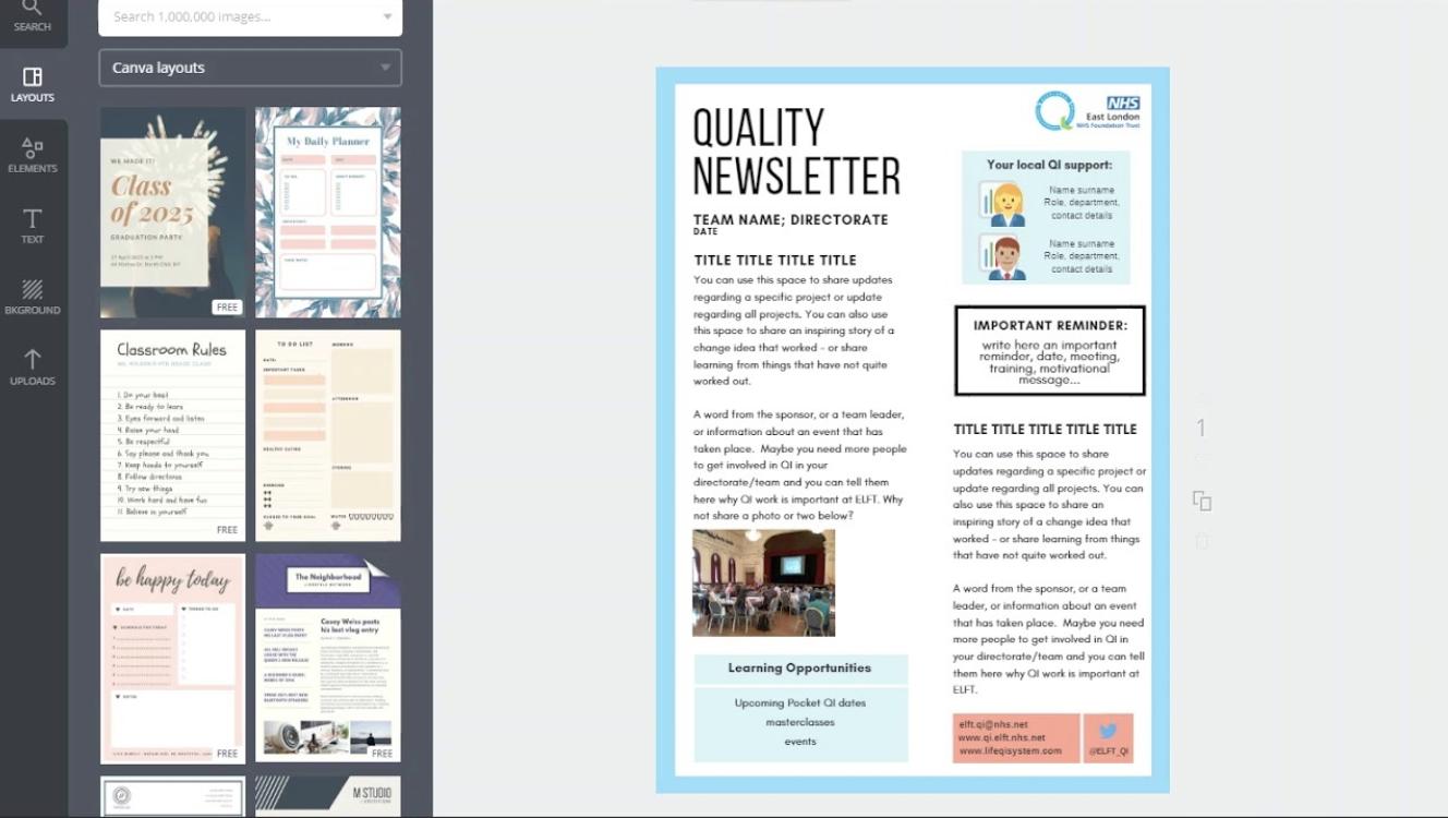 Canva Newsletter Design