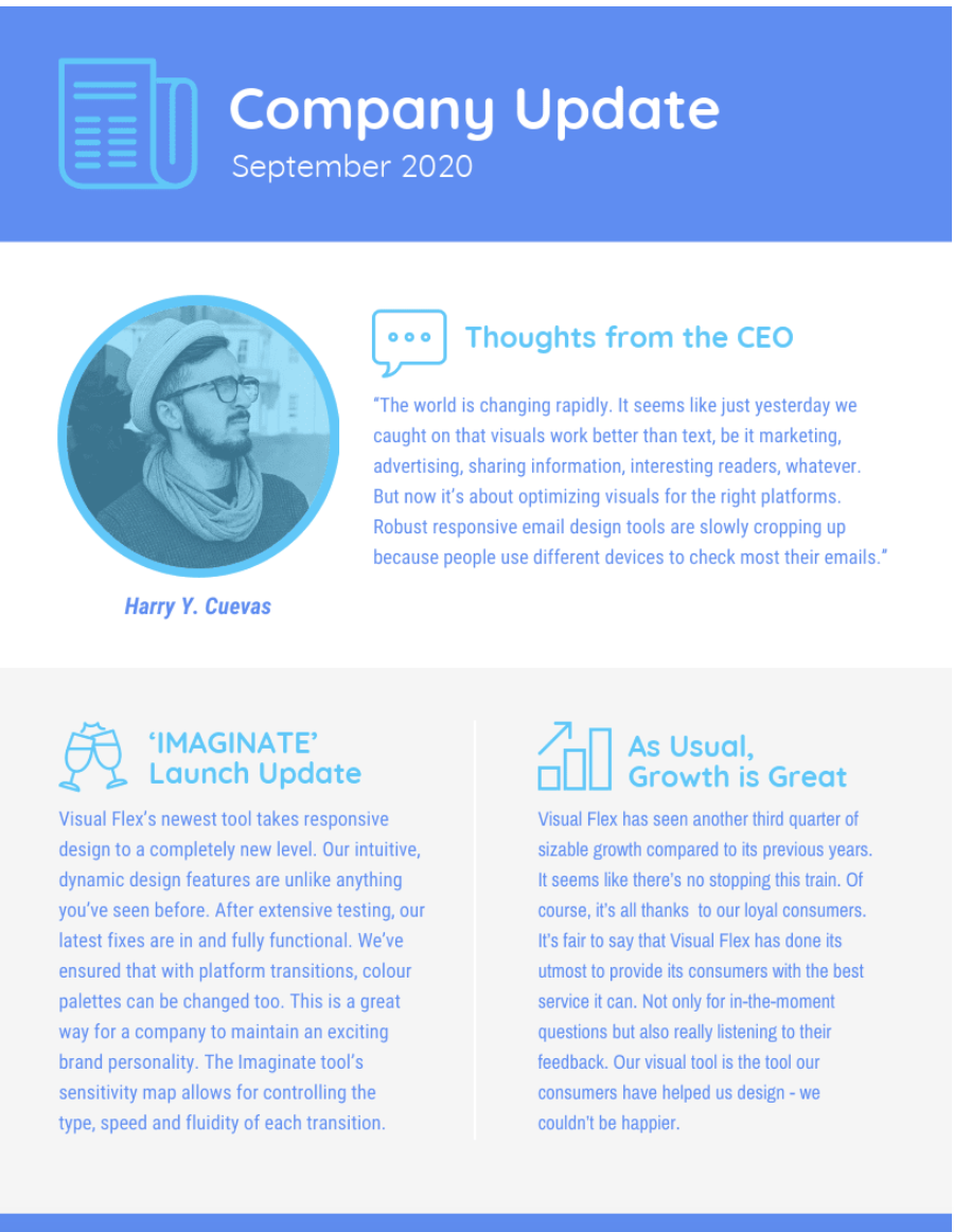 Business newsletter design