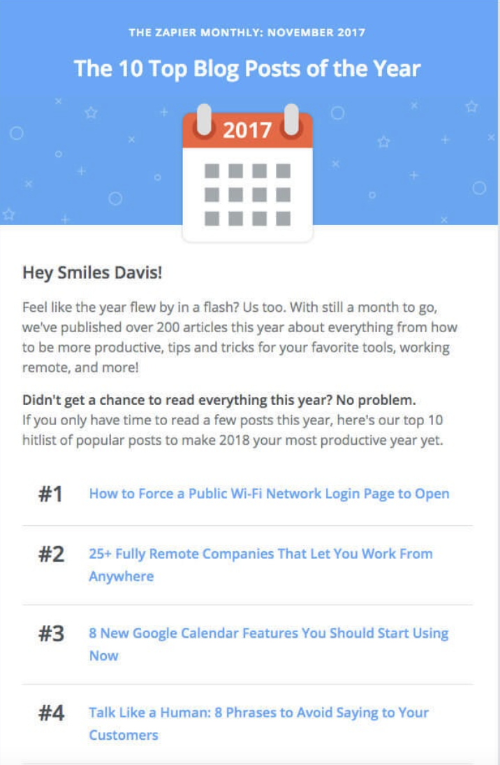 Monthly newsletter design