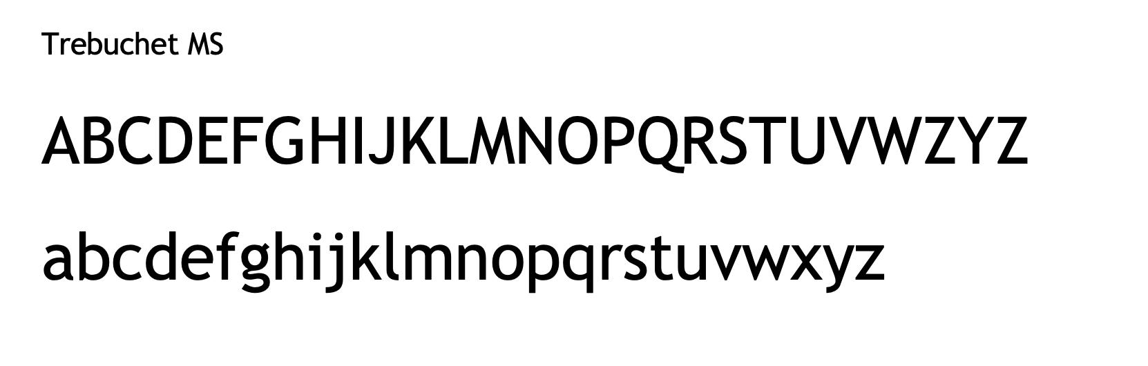 Trebuchet MS - email signature safe font
