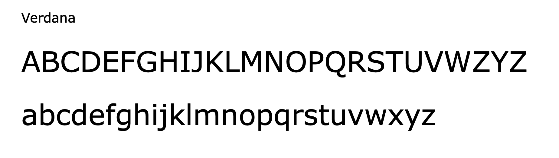 Verdana - classic email signature font
