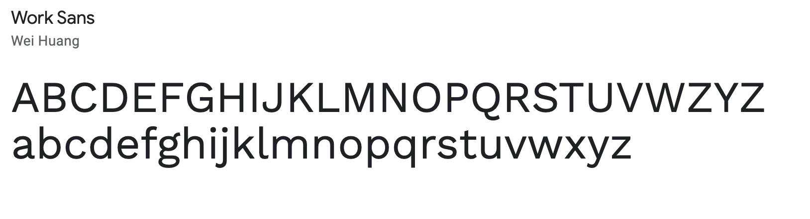 Work Sans - Serif email signature font