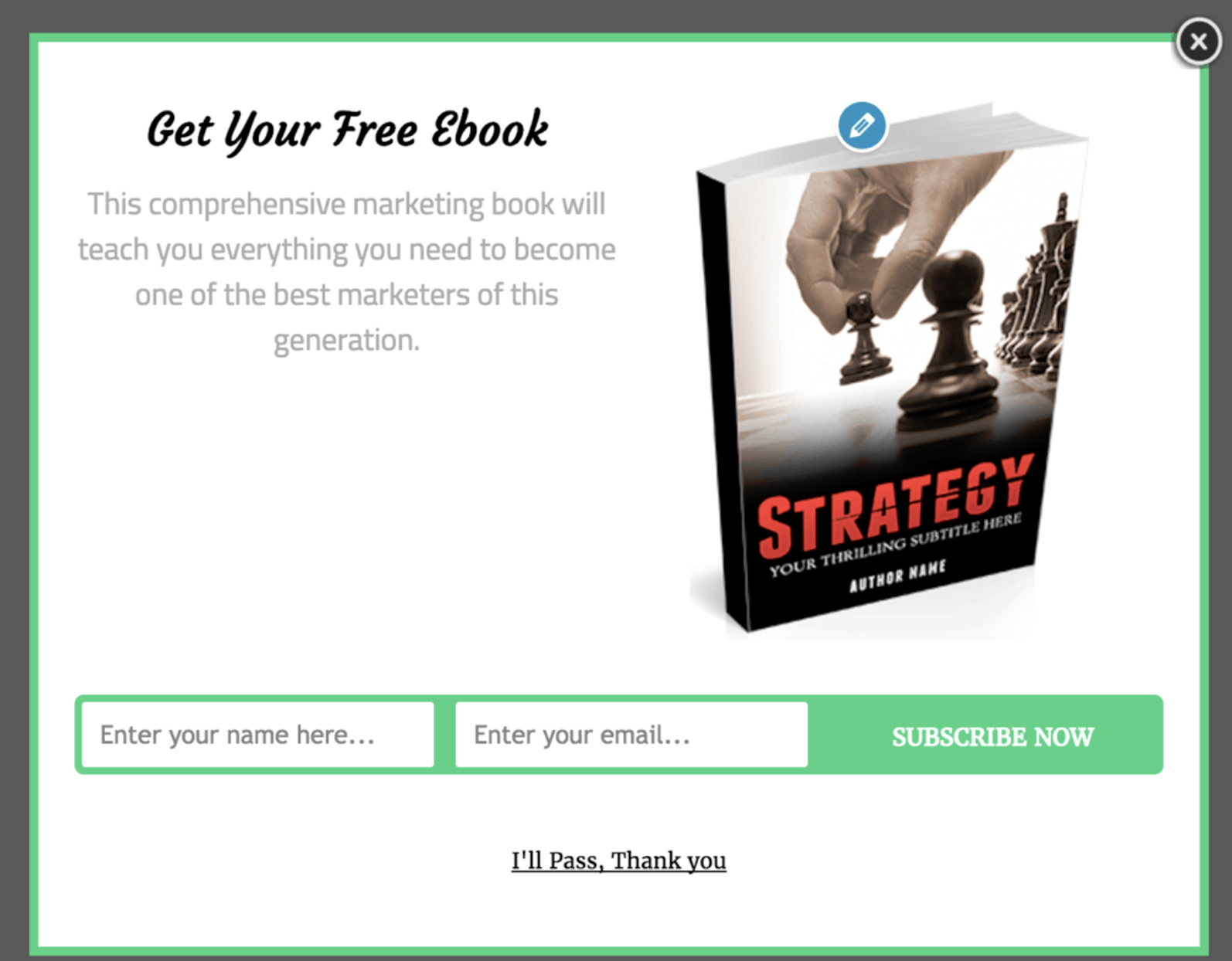 example of free gift in opt in email form