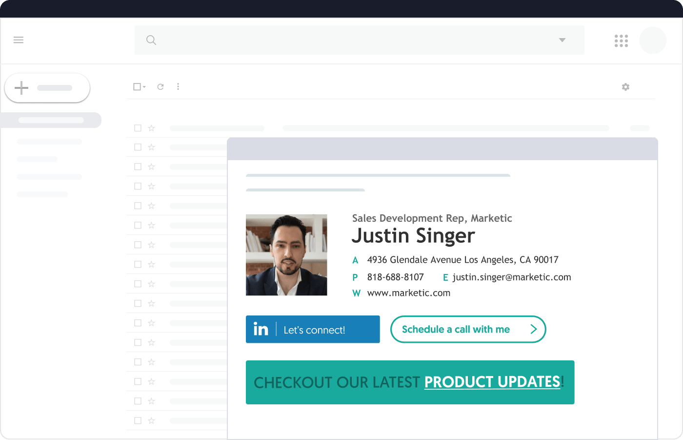 manage global email signature for sales teams