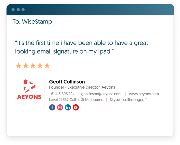 wisestamp email signature manager review-min