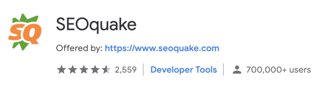 best chrome extension SEOquake