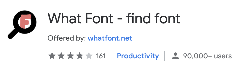 best chrome extension what font