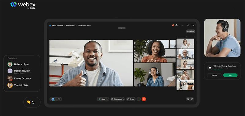 best free online meeting platforms - webex