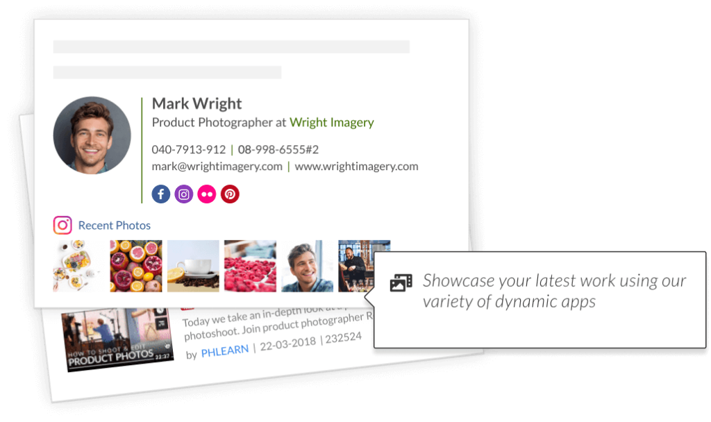 how to add an Image GIF or gallery to your email signature