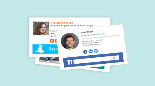 signature email examples with social media