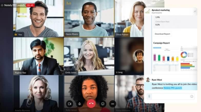 video conference softwares - Zoho Cliq