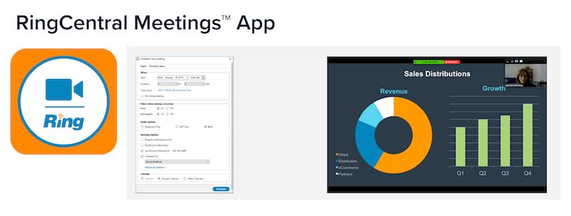 zoom free alternatives - ring central meeting app