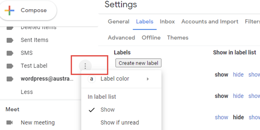 2. how to color-code your labels in Gmail