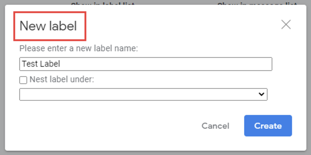 4. How to create labels for gmail