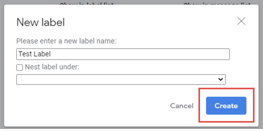 5. How to create labels for gmail
