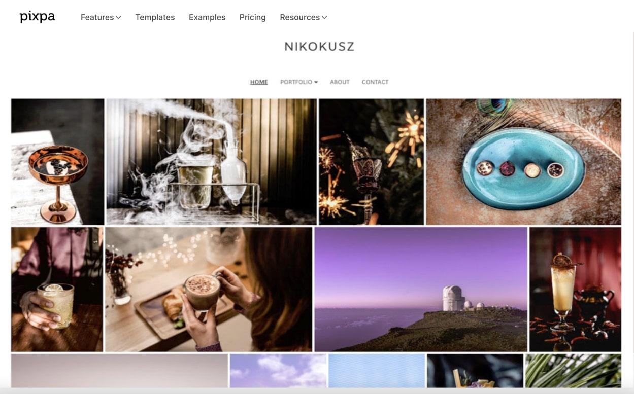 best photo sharing platform Pixpa