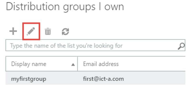 2. Edit distribution groups I own
