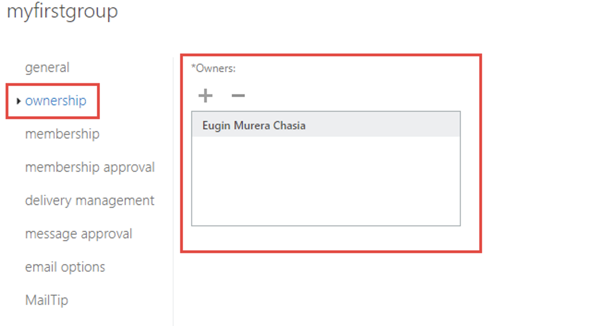 3. Navigate to the Ownership section in the new window