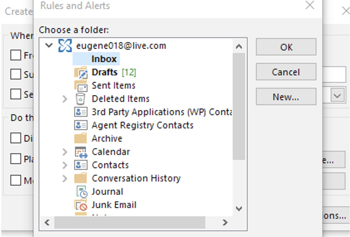 3. create outlook incoming emails into specific folders automatically-min
