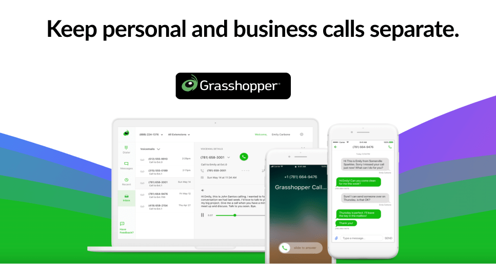 Grasshopper best virtual phone system for small business-min