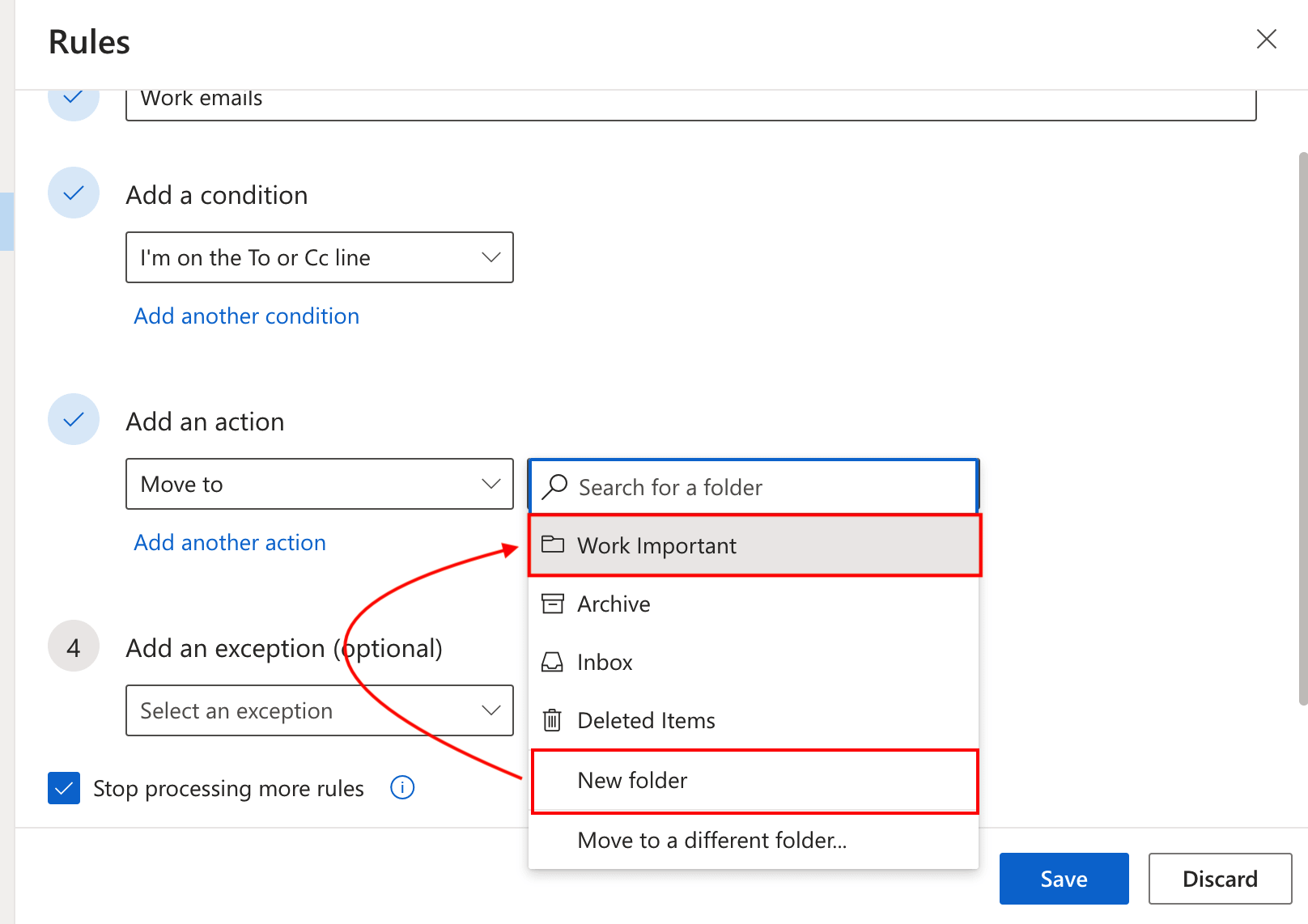 Outlook incoming emails into specific folders automatically other