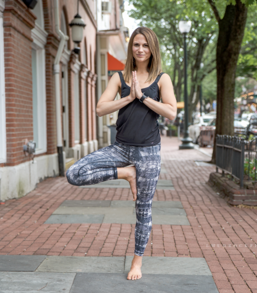 Linda swapped her out-the-home job as a yoga intstuctor so she could be a stay at home mom