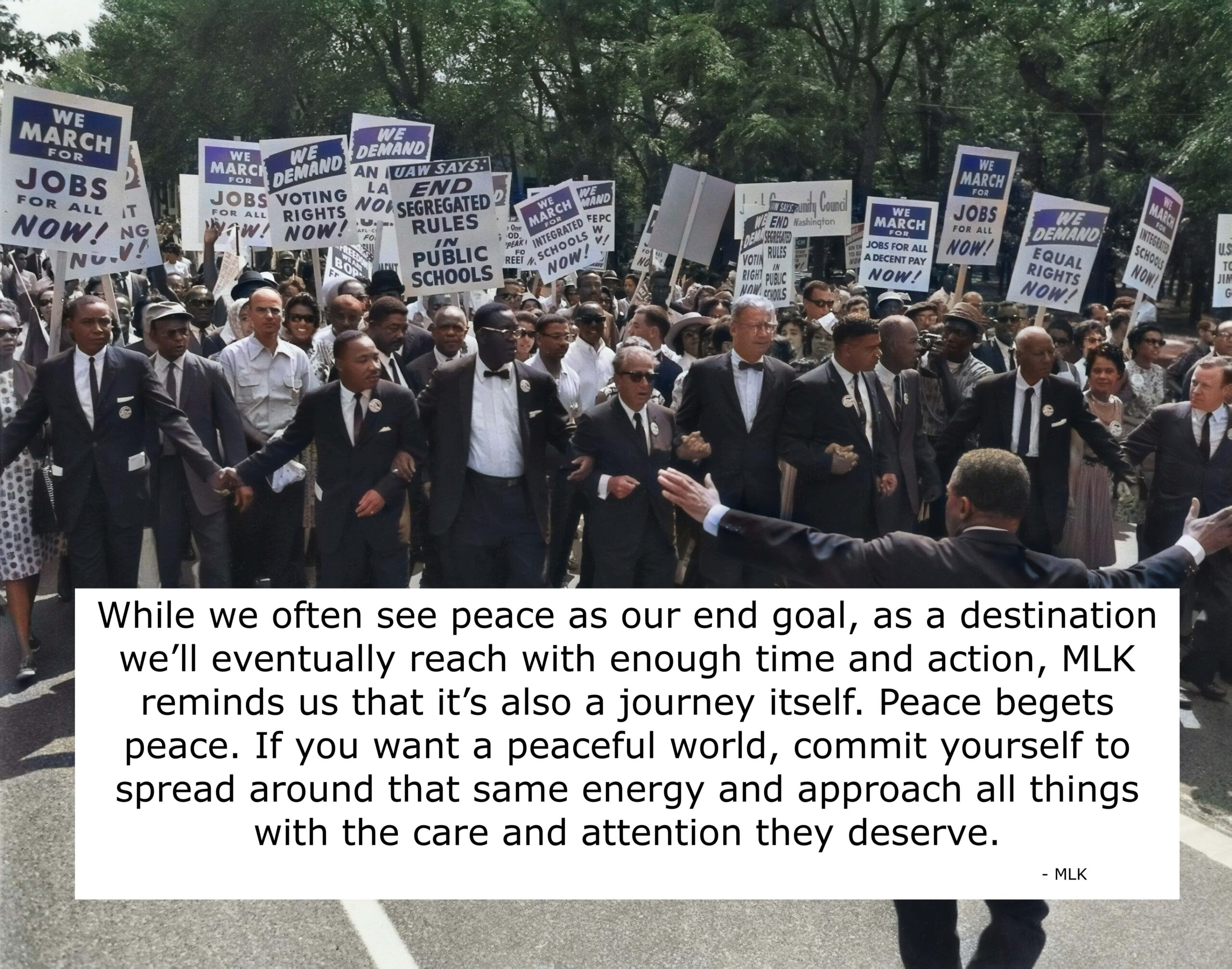 Martin Luther King quotes on peaceful protest