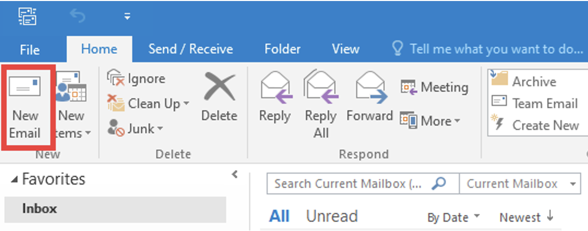 Step 1: Click on the New Email button