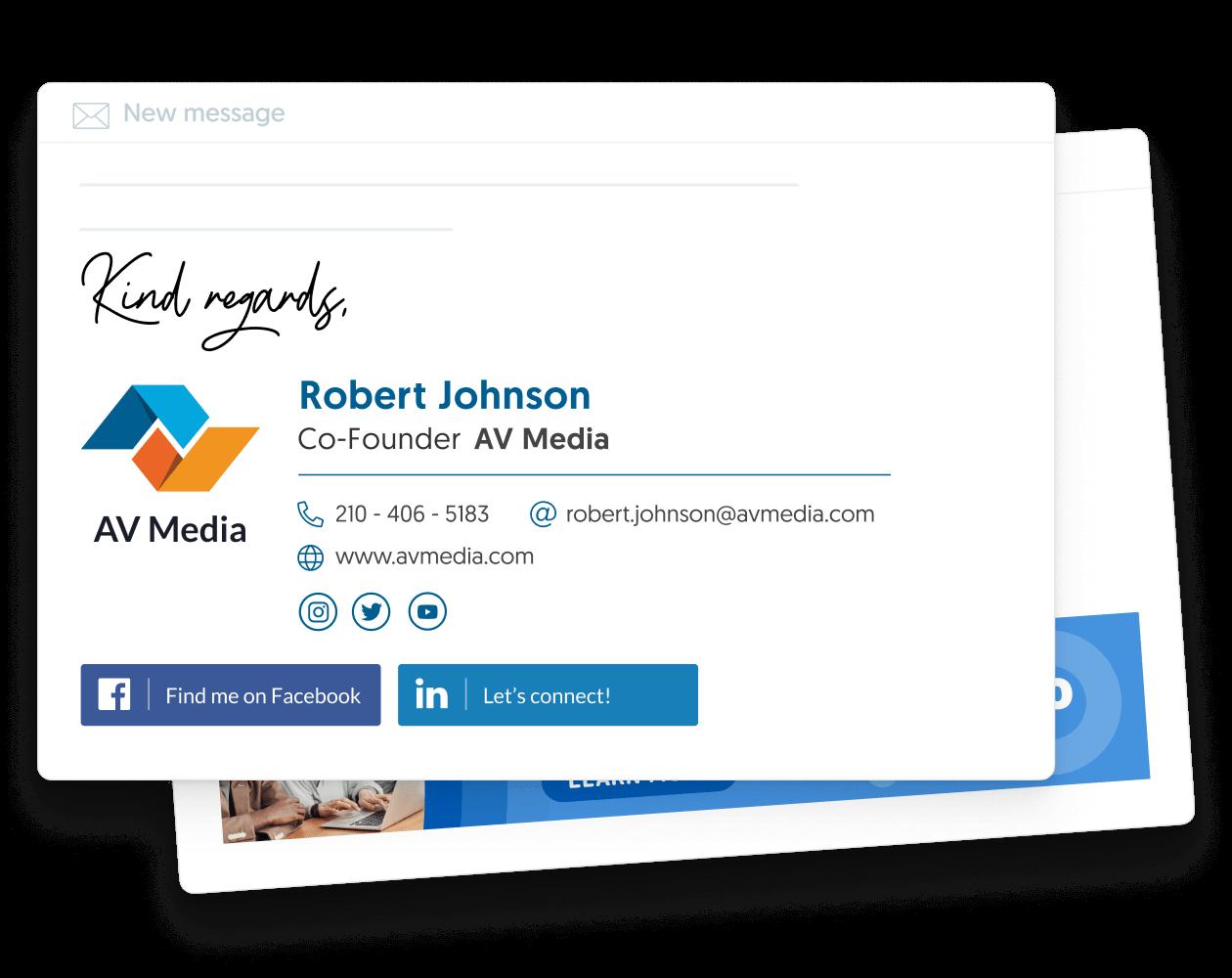 professional email signature examples