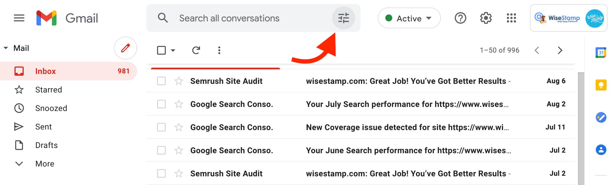 use Gmail search to sort Gmail inbox
